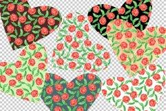 Floral Hearts Set. Valentine Sublimation PNG design Product Image 4