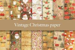 Vintage Christmas digital paper pattern Product Image 1