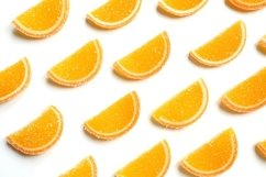 marmalade oranges citrus jelly slices in sugar flat lay Product Image 1