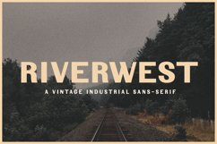 Fonts for Maps   Vintage Industrial   Riverwest Product Image 1