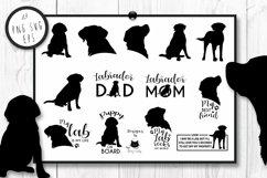 Black Labrador Retriever Dog Silhouette | Dog Mom SVG Files Product Image 2