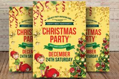 Merry Christmas Party Flyer Background Product Image 1