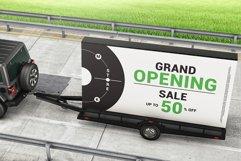 Mobile Billboard Trailer Advertising Sign Mockup Product Image 5
