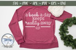 A Book a Day- Book Lover SVG Product Image 1