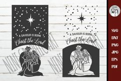 Nativity svg | A Saviour is Born for Rustic Christmas Home Product Image 2