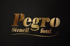 Pegro Stencil Font Product Image 2