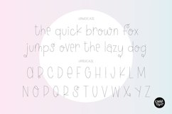 """FLUFFY SOCKS"" Sketch Font - Single Line/Hairline Font Product Image 3"