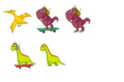 Dinosaur vector clipart. Baby animal for children. Product Image 6