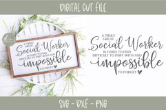 A Truly Great Social Worker Is Hard To Find - SVG Cut File Product Image 1