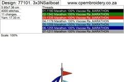 Simple Sailboat Applique Design Product Image 4