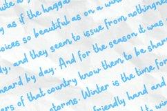 Snow Doodle | Handwritten Monoline Web Font Product Image 5