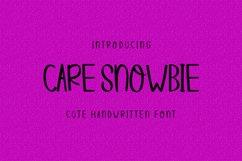 Care Snowbie | Modern Handwritten Product Image 1