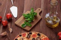 Bundle of six photos of traditional Italian vegetarian pizza Product Image 6