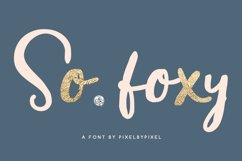 So Foxy Script Font Product Image 1