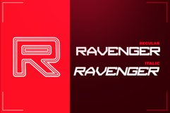RAVENGER EXCLUSIVE DISPLAY FONT Product Image 3