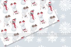 Watercolor gnome christmas seamless patterns Product Image 2