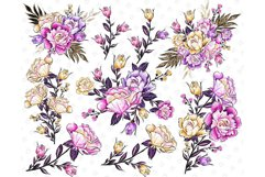 Floral clipart, Watercolor roses, spring flowers, roses Product Image 3
