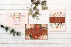 Terracotta Peach Floral Wedding Invitation Set Product Image 3