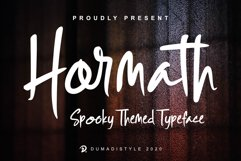 Hormath - Spooky Themed Typeface Product Image 1