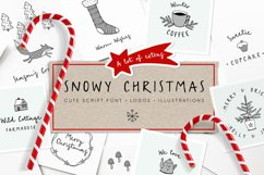 Snowy Christmas script font & logos Product Image 1