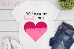 Heart Melt SVG, Valentine's cut file, Love svg Product Image 3