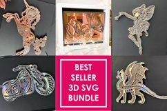 5 BEST SELLER 3D SVG Bundle Fairy, Bike, Dragon, Butterfly Product Image 1