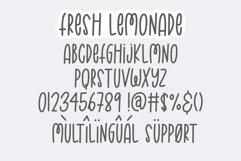 Fresh Lemonade | Monoline Font Product Image 4
