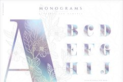 NACRE - monogram and floral graphic set Product Image 3