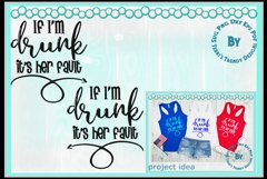 If I'm drunk it's his her fault wedding or best friend shirt Product Image 3