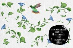 Hummingbird and fantasy flora Product Image 1