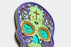 Multilayer Sugar Skull Mandala - S1, for cutting machines Product Image 5