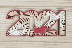 New Year laser cut file - 2021 - Year of the Ox Product Image 5