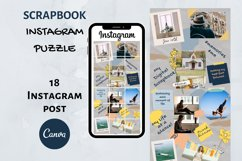 Instagram Puzzle Template Canva- My Scrapbook Product Image 1