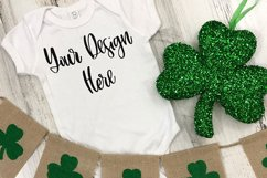St. Patrick's Day Rabbit Skins 4400 Baby One Piece Mockup Product Image 1