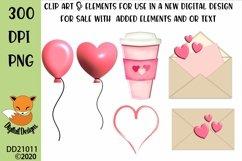 Valentine Clipart Elements Sublimation Scrapbooking Bundle Product Image 3