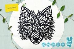 Wolf svg, Wolf mandala svg, Wolf head svg, animal svg file Product Image 1