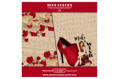 Christmas Digital Paper Pack Fashion Clipart Fashion Blogger Product Image 3