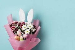 Happy Easter - flowers and colourful eggs Product Image 1