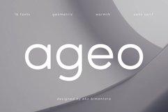Ageo geometric sans font family Product Image 1