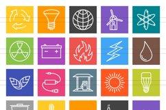 50 Energy Line Multicolor B/G Icons Season II Product Image 2