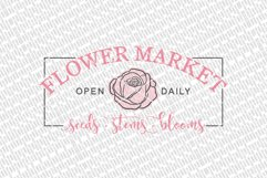 Flower Market SVG   Farmhouse Sign   DXF and More Product Image 2