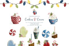 Christmas clipart & Seamless Digital Paper set for crafters Product Image 4