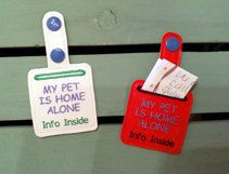 ITH Pet Home Alone Key Fob with Pocket - Snap Tab Machine Embroidery Product Image 3