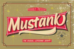 Mustank Casual Script Product Image 1