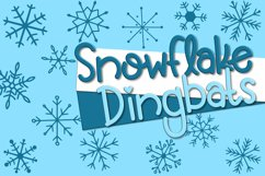 Snowflake Dingbats | A Font with Snowflake and Star Dingbats Product Image 1