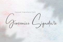 Geovanice - Casual Signature Font Product Image 1