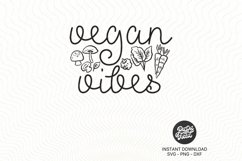 Vegan Vibes SVG PNG DXF Product Image 2