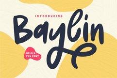 Web Font Baylin - Bold & Fun Font Product Image 1