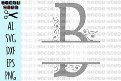 SVG Ornamental Split Monogram Alphabet, Split Ornamental Monogram, Monogram Letters - Cut Files for Silhouette, Cut Files Cricut Machines Product Image 3