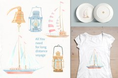 Nautical watercolor clipart collection Product Image 6
